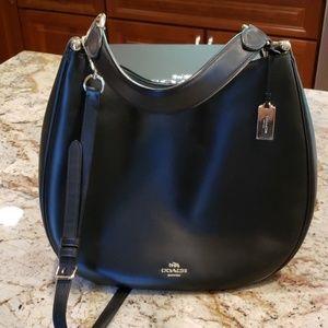 Coach leather hobo style bag